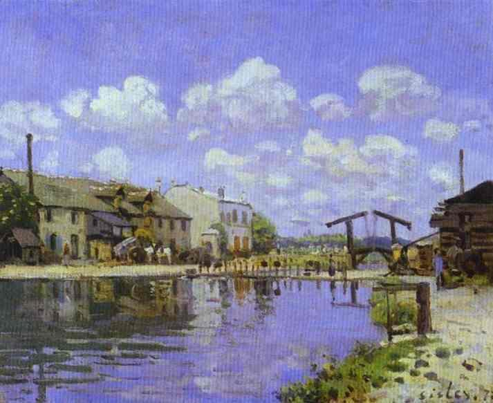 The Saint-Martin Canal  1872 | Alfred Sisley | Oil Painting