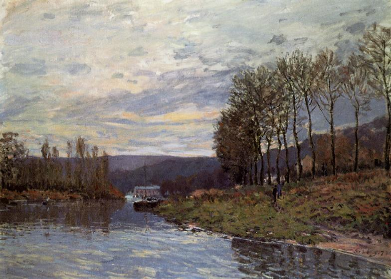 The Seine at Bougival2  1873 | Alfred Sisley | Oil Painting