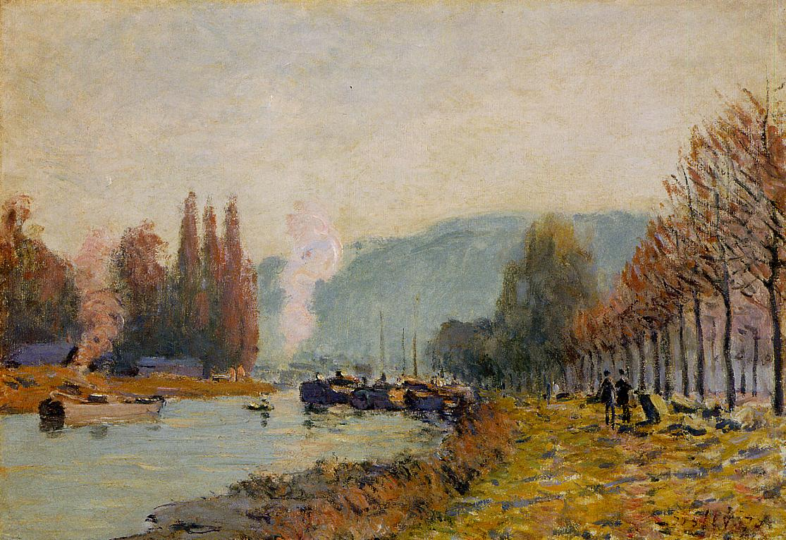 The Seine at Bougival3  1873 | Alfred Sisley | Oil Painting