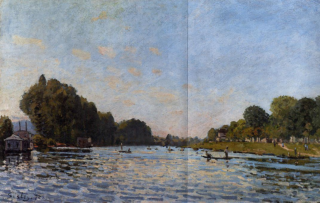 The Seine at Bougival  1872 | Alfred Sisley | Oil Painting