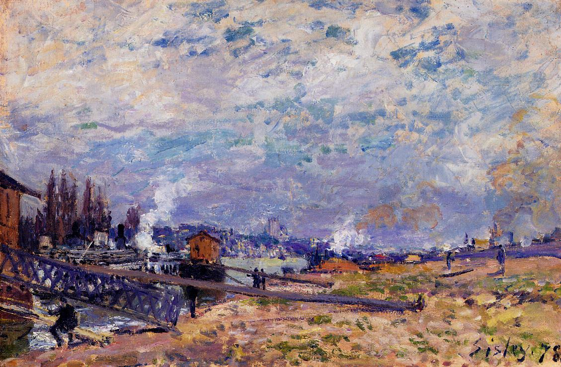 The Seine at Grenelle  1878 | Alfred Sisley | Oil Painting