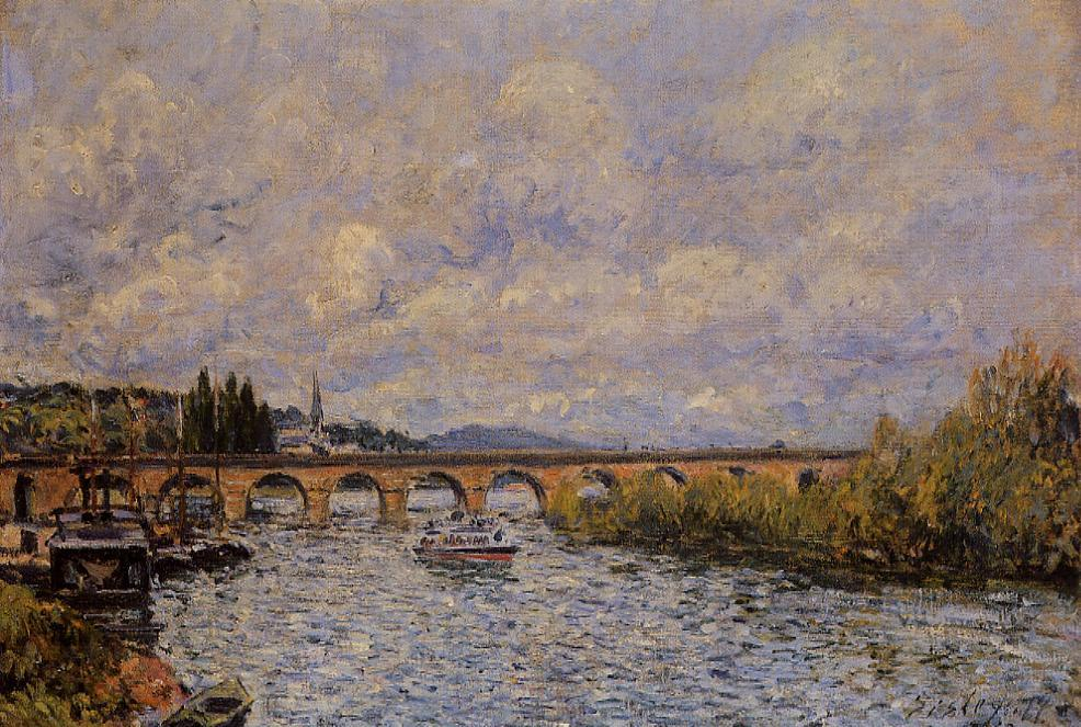 The Sevres Bridge1  1877 | Alfred Sisley | Oil Painting