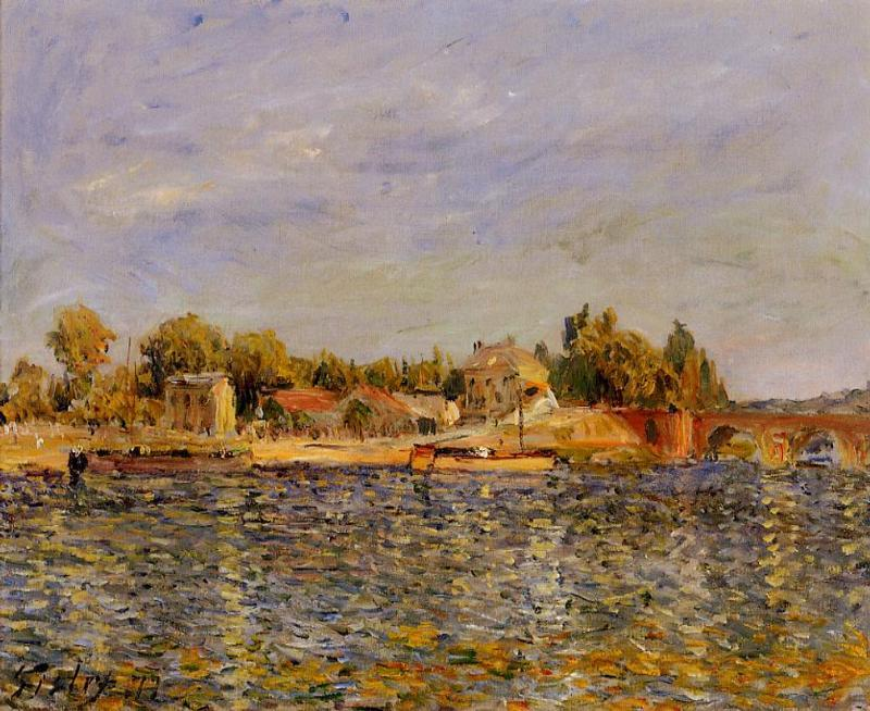 The Sevres Bridge2  1877 | Alfred Sisley | Oil Painting