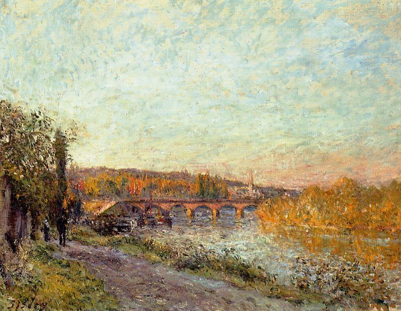 The Sevres Bridge3  1877 | Alfred Sisley | Oil Painting