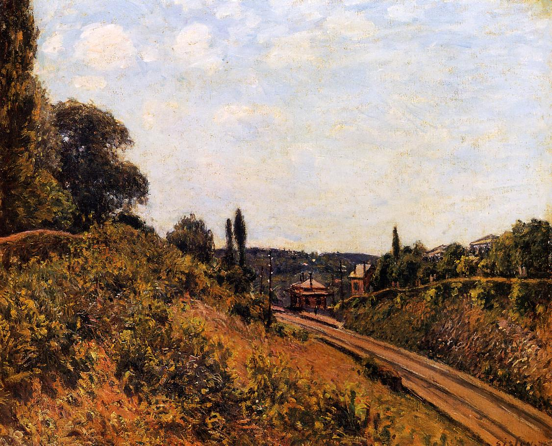 The Station at Sevres  1879 | Alfred Sisley | Oil Painting