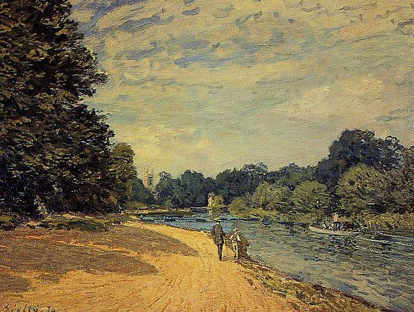 The Thames with Hampton Court  1874 | Alfred Sisley | Oil Painting