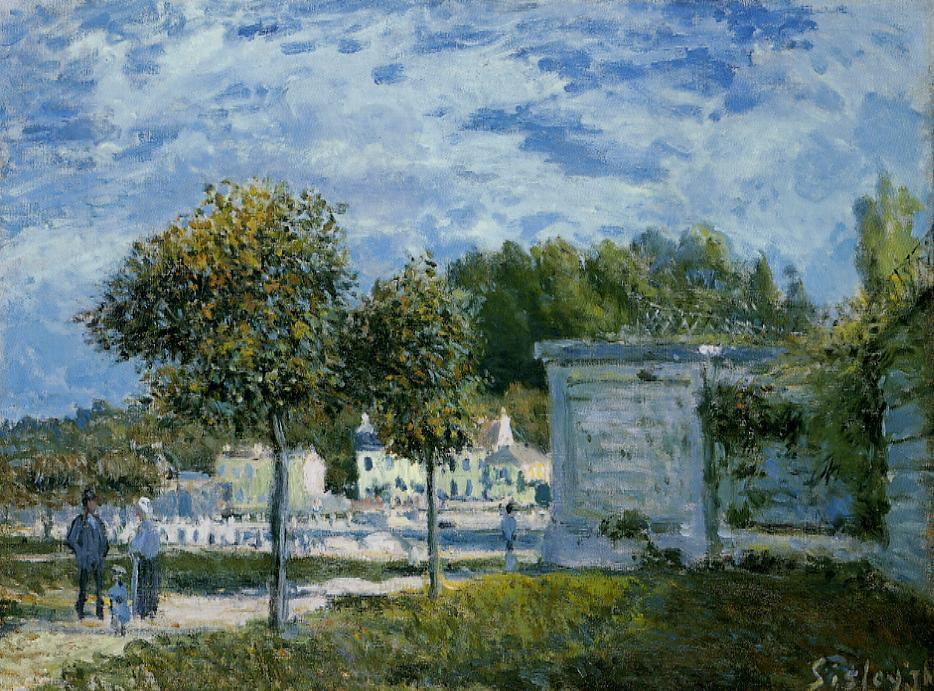 The Watering Place at Marly  1875 | Alfred Sisley | Oil Painting