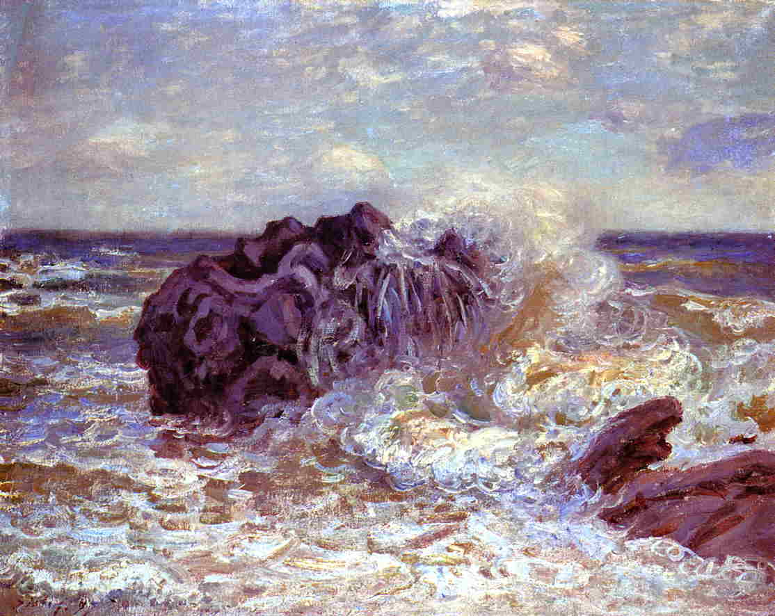 The Wave Lady's Cove Langland Bay  1897 | Alfred Sisley | Oil Painting