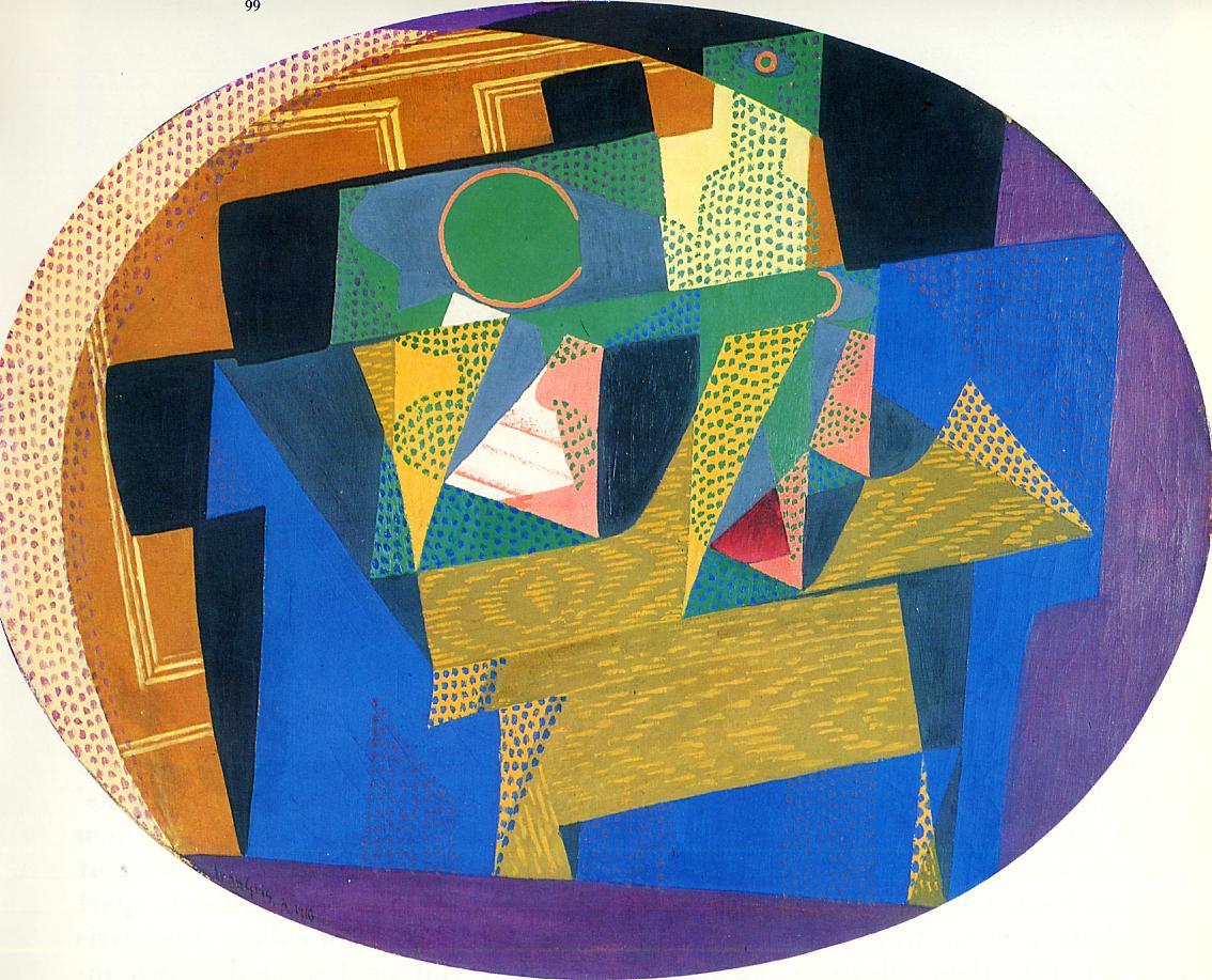 Fruit Bowl with Bottle 1916 | Juan Gris | Oil Painting