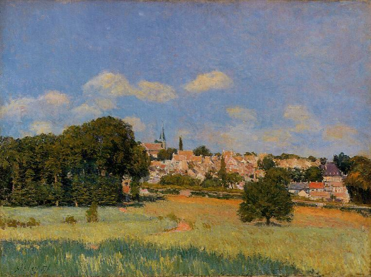 View of Marly-le-Roi  1876 | Alfred Sisley | Oil Painting