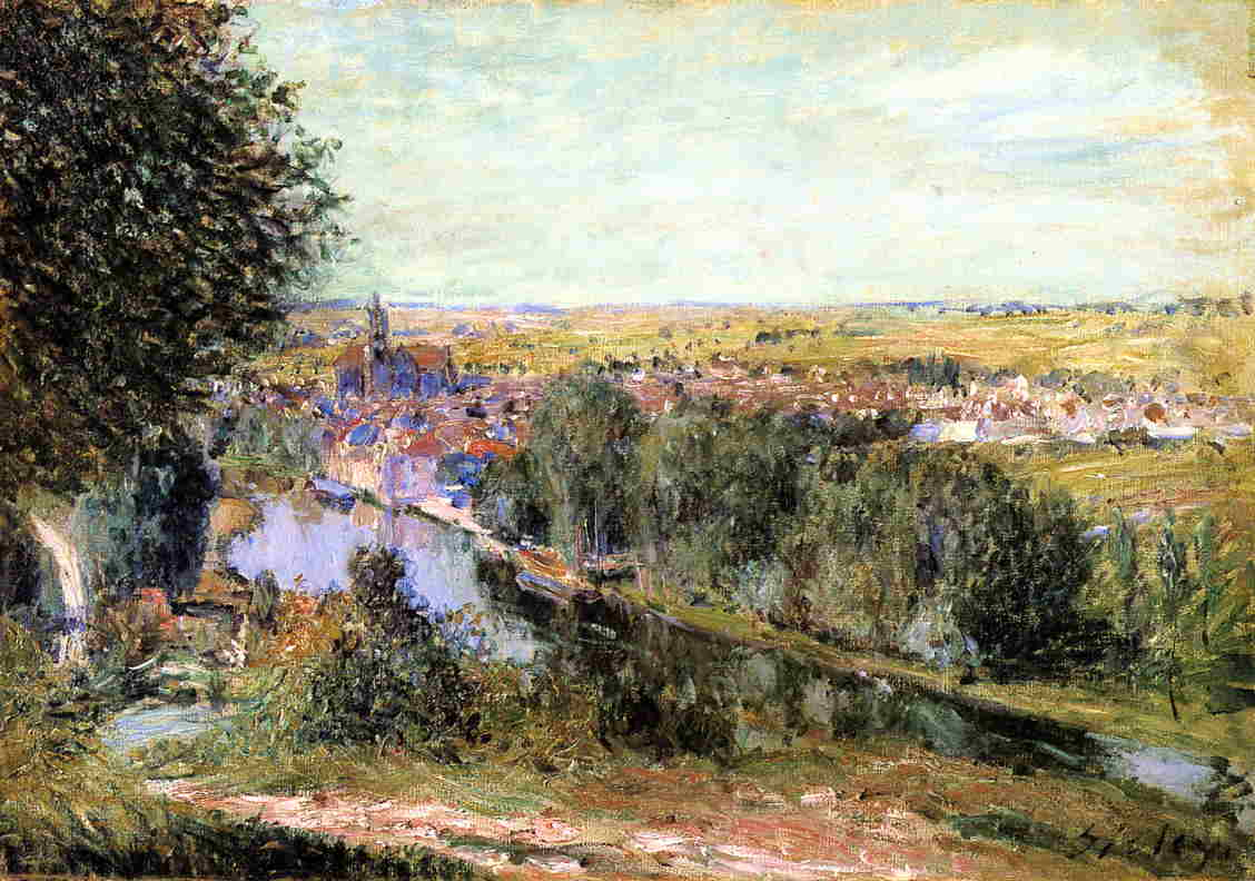 View of Moret  1880 | Alfred Sisley | Oil Painting