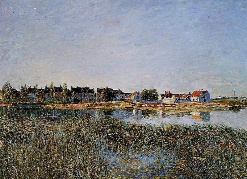 View of Saint-Mammes  1880-1881 | Alfred Sisley | Oil Painting