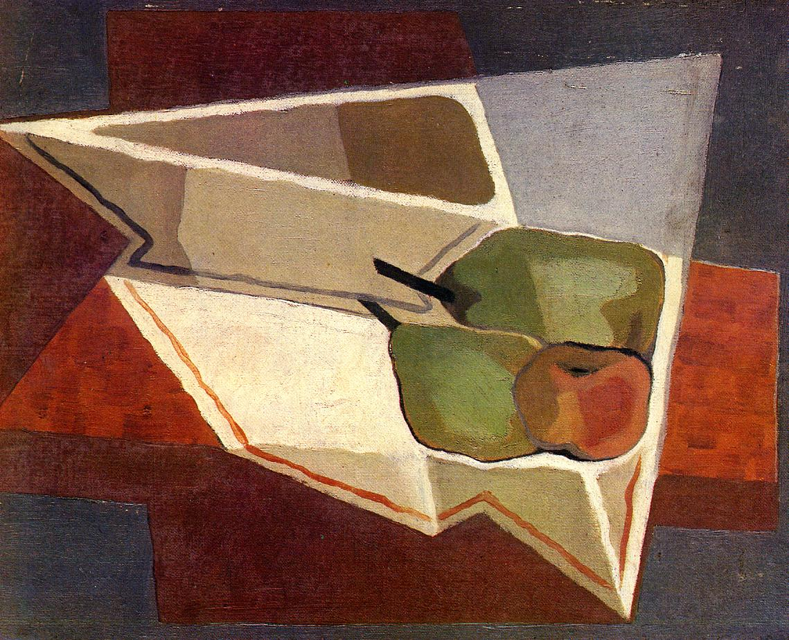 Fruit with Bowl 1926 | Juan Gris | Oil Painting