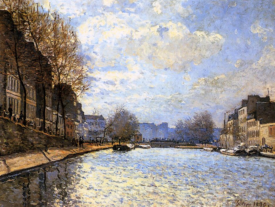 View of the Canal St Martin  1870 | Alfred Sisley | Oil Painting