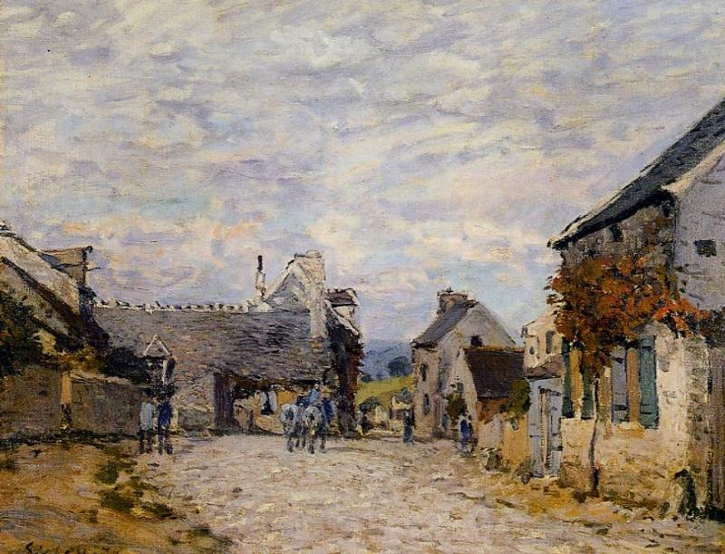 Village Street - Louveciennes  1874 | Alfred Sisley | Oil Painting