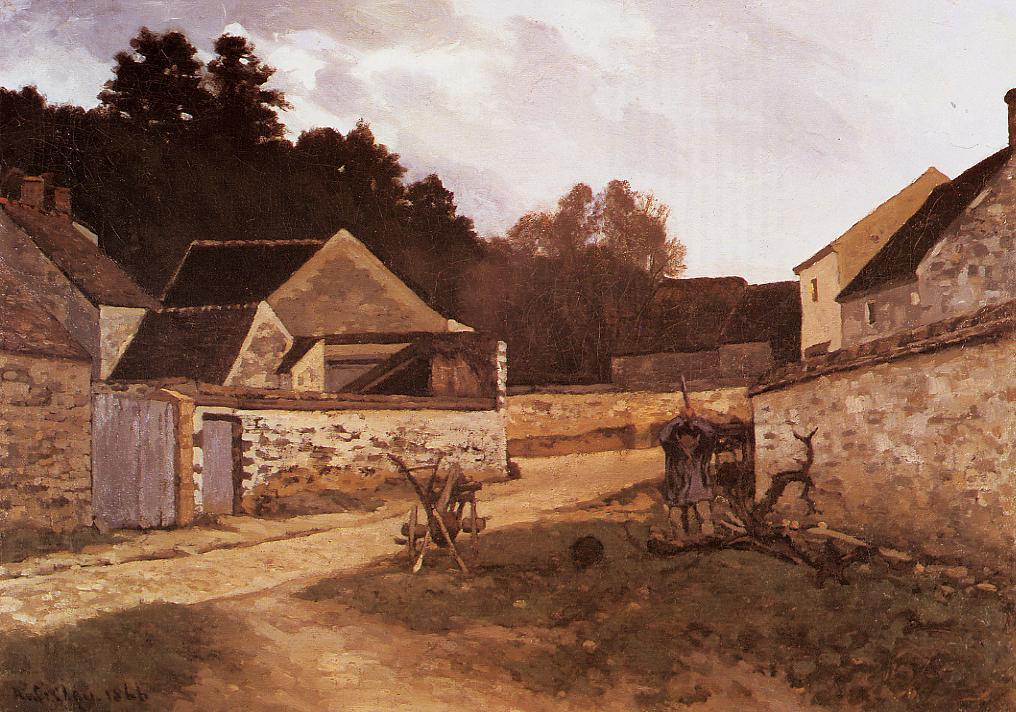 Village Street in Marlotte  1866 | Alfred Sisley | Oil Painting