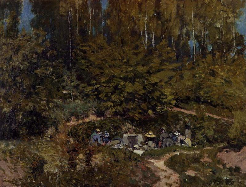 Washerwomen  1876 | Alfred Sisley | Oil Painting