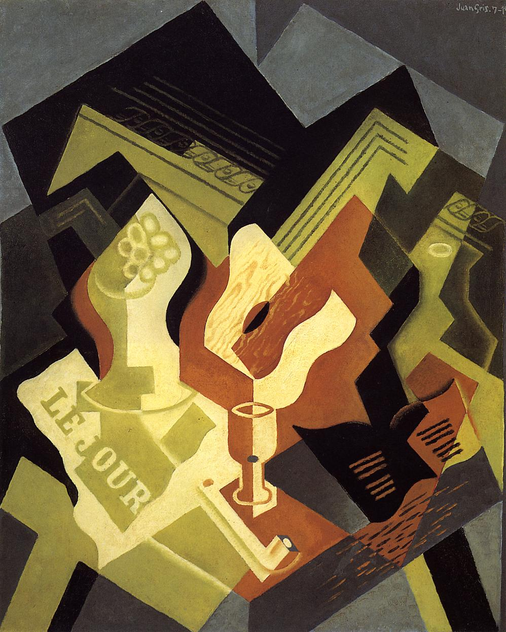 Guitar and Fruit Dish 1919 | Juan Gris | Oil Painting