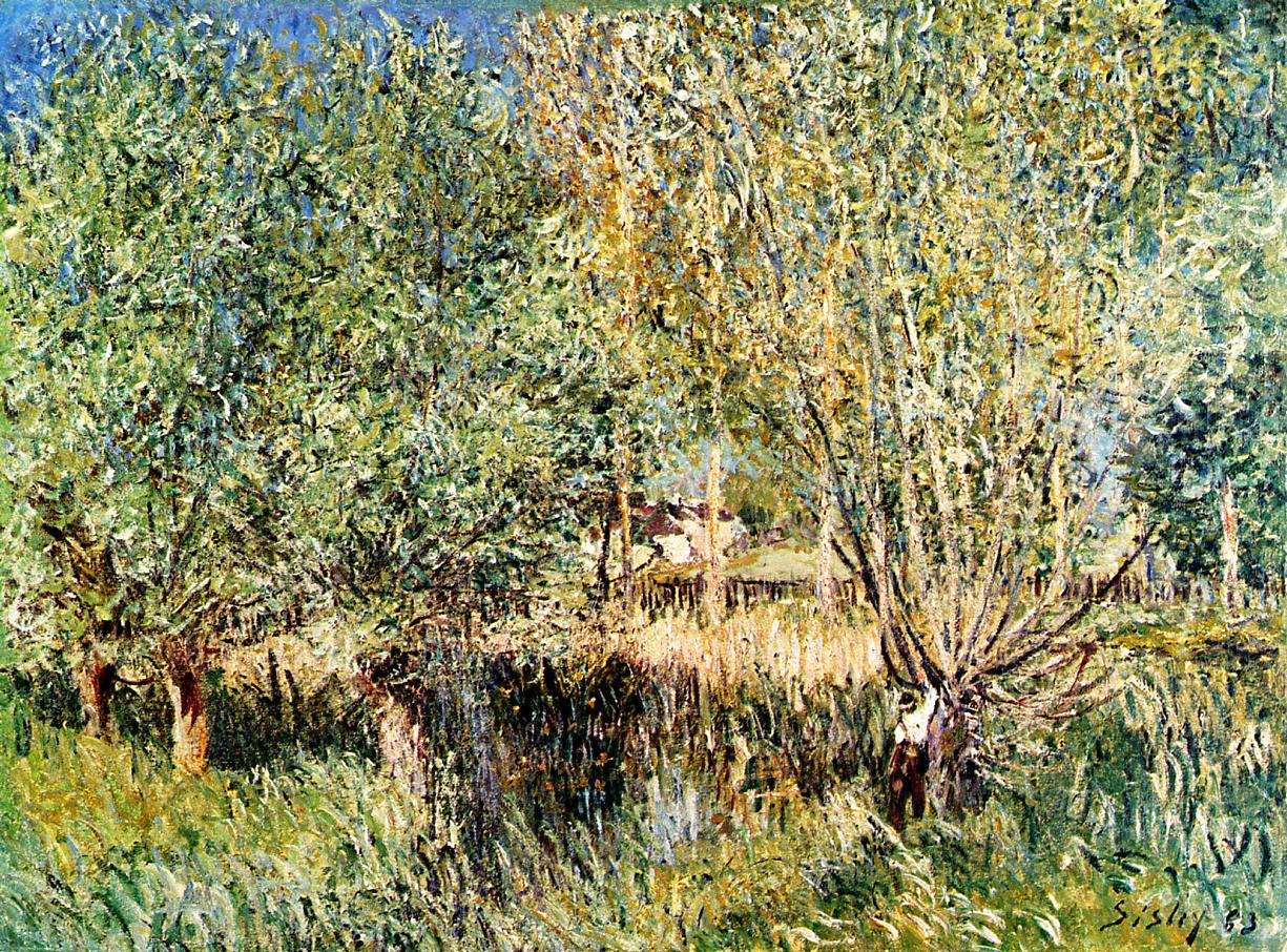 Willows on the Banks of the Orvanne  1883 | Alfred Sisley | Oil Painting