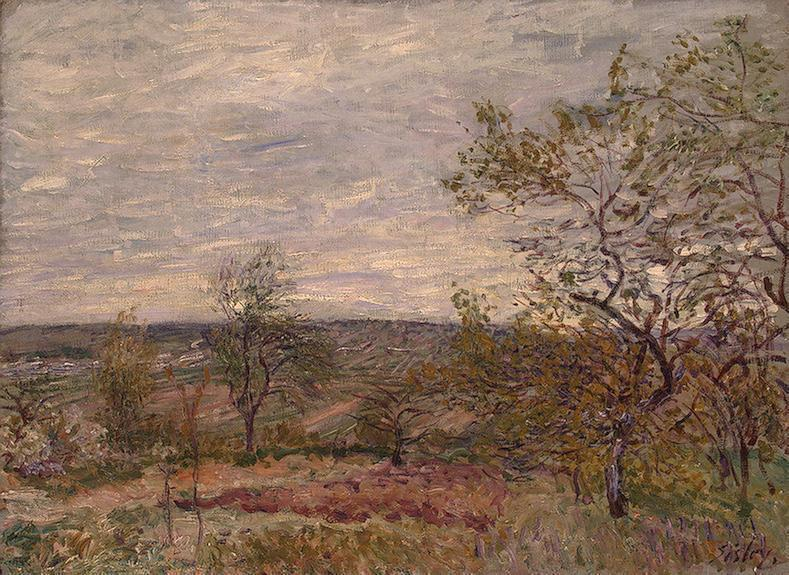 Windy Day at Veneux  1882 | Alfred Sisley | Oil Painting