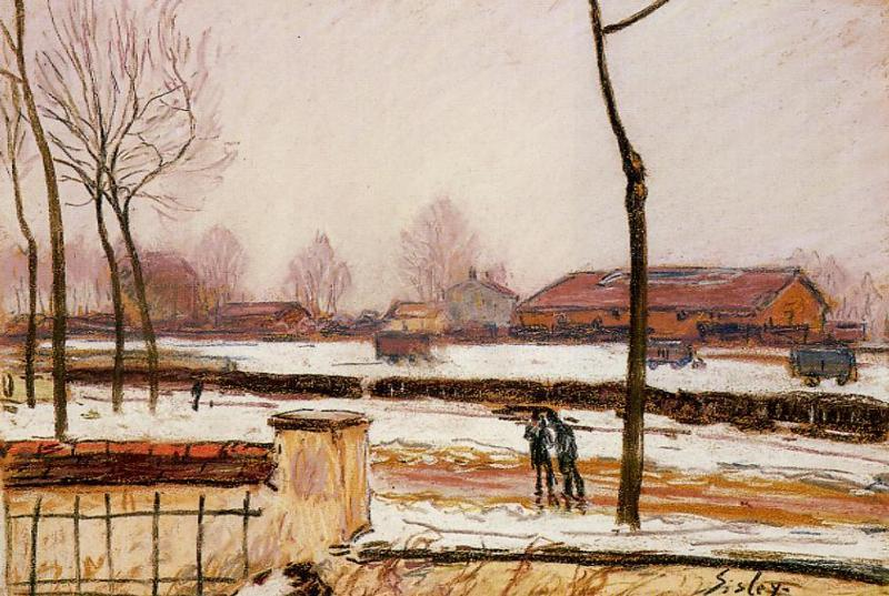 Winter Landscape Moret  1888 | Alfred Sisley | Oil Painting