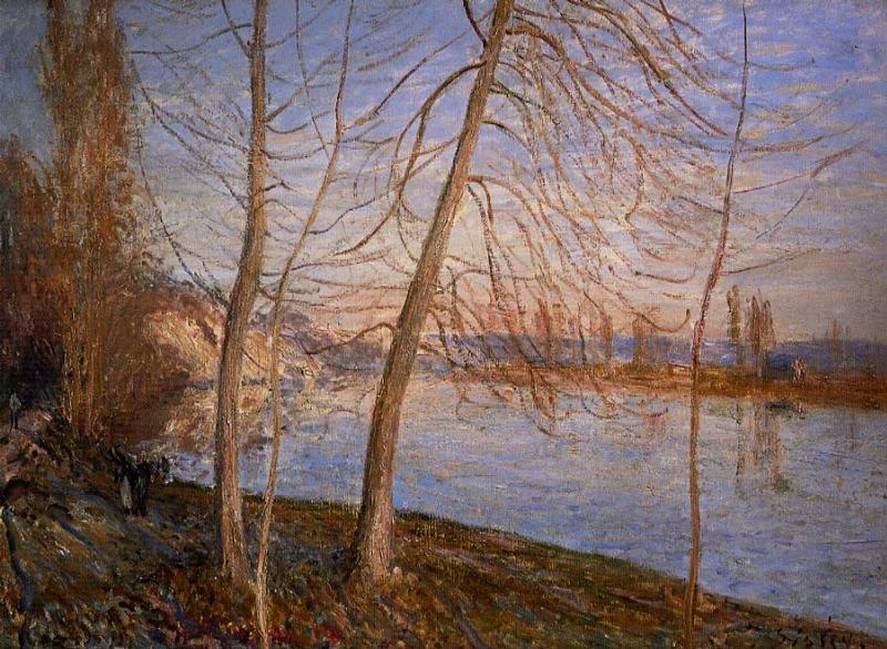 Winter Morning - Veneux  1878 | Alfred Sisley | Oil Painting
