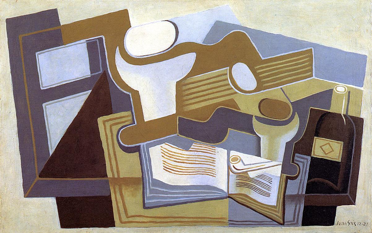 Guitar and Fruit Dish 1921 | Juan Gris | Oil Painting