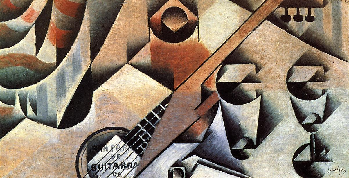 Guitar and Glasses (aka Banjo and Glasses) 1912 | Juan Gris | Oil Painting