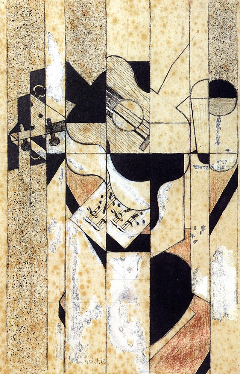 Guitar and Glass 1912 | Juan Gris | Oil Painting