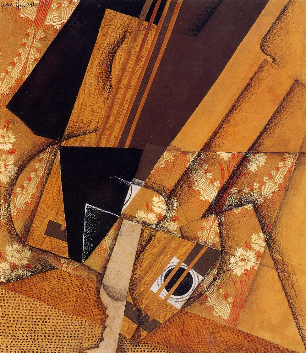 Guitar and Glass 1914 | Juan Gris | Oil Painting
