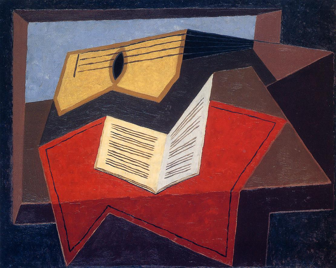 Guitar and Music Paper 1926-1927 | Juan Gris | Oil Painting