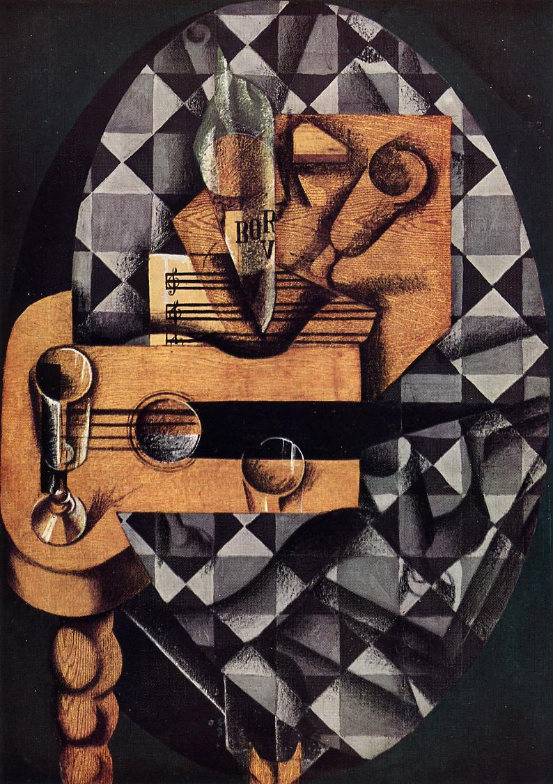 Guitar Glasses and Bottle 1914 | Juan Gris | Oil Painting