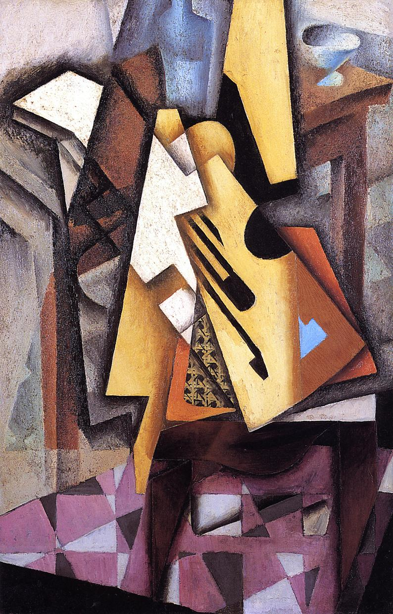 Guitar on a Chair 1913 | Juan Gris | Oil Painting