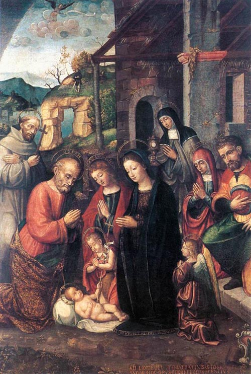 Nativity 1526 | Bernardino Fasolo | Oil Painting