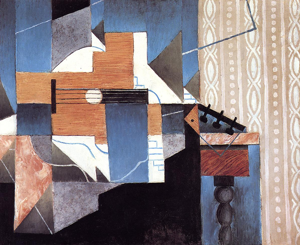 Guitar on the Table 1913 | Juan Gris | Oil Painting