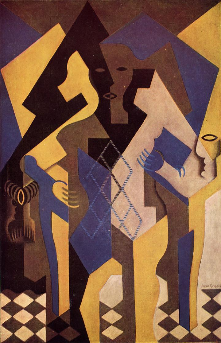Harlequin at a Table 1919 | Juan Gris | Oil Painting