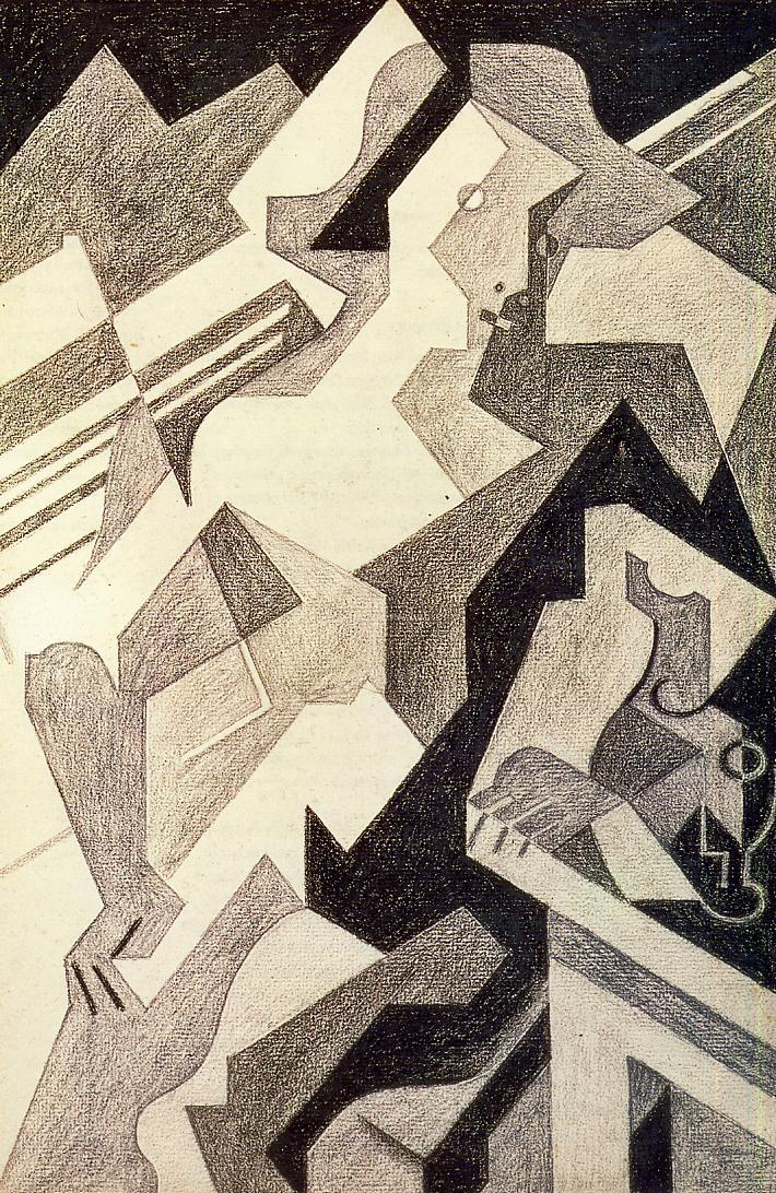 Harlequin at Table 1918 | Juan Gris | Oil Painting