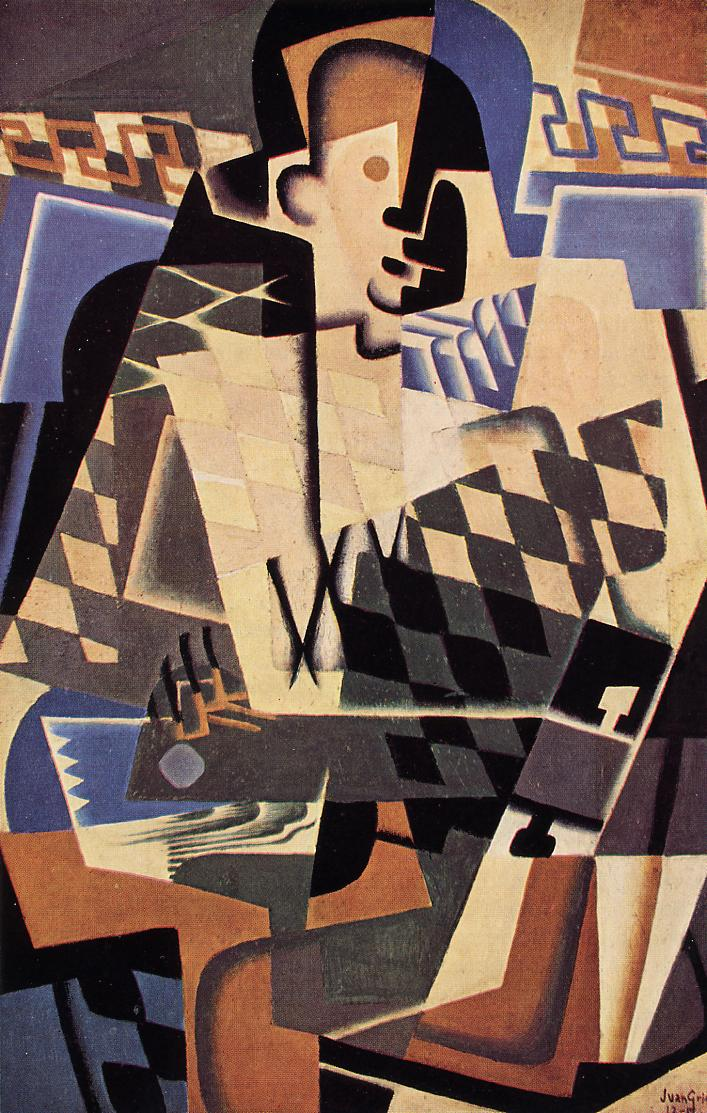 Harlequin with a Guitar 1917 | Juan Gris | Oil Painting