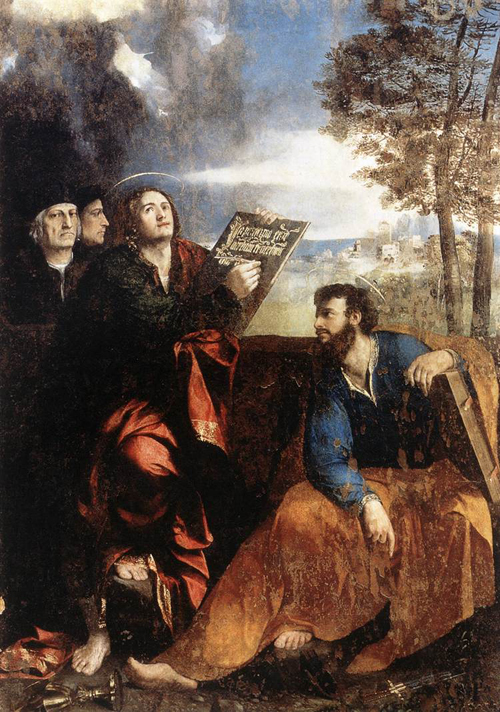 Sts John and Bartholomew with Donors 1527 | Dosso Dossi | Oil Painting