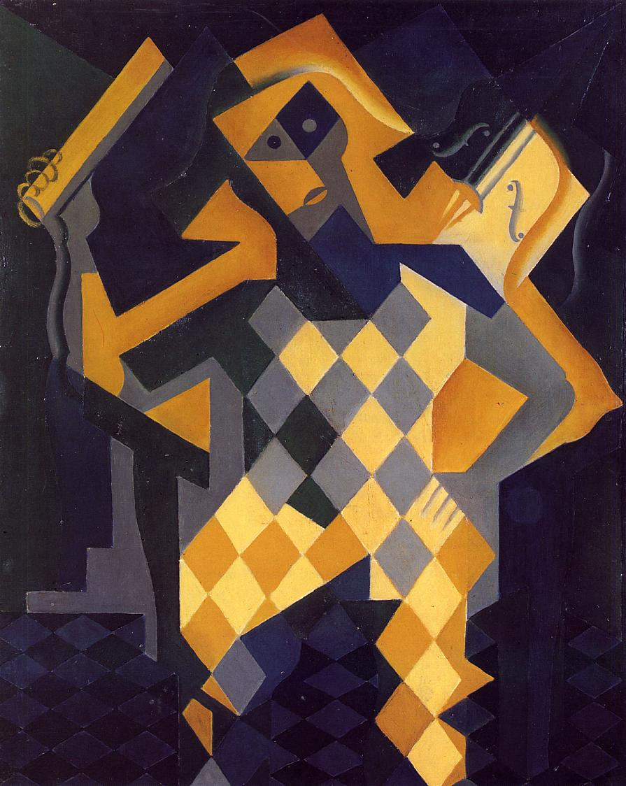 Harlequin with Violin 1919 | Juan Gris | Oil Painting