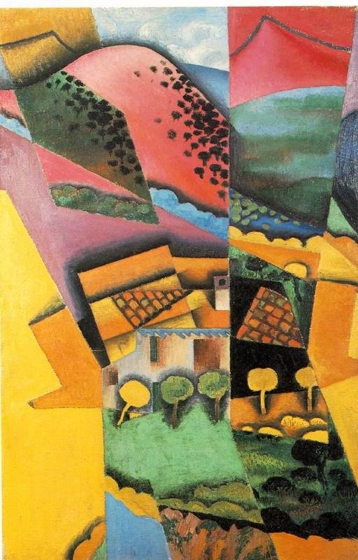 landscape at Ceret sunset 1913 | Juan Gris | Oil Painting