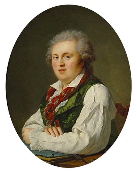 Portrait of Laurent Nicolas de Jourbet 1787 | Francois Xavier Fabre | Oil Painting