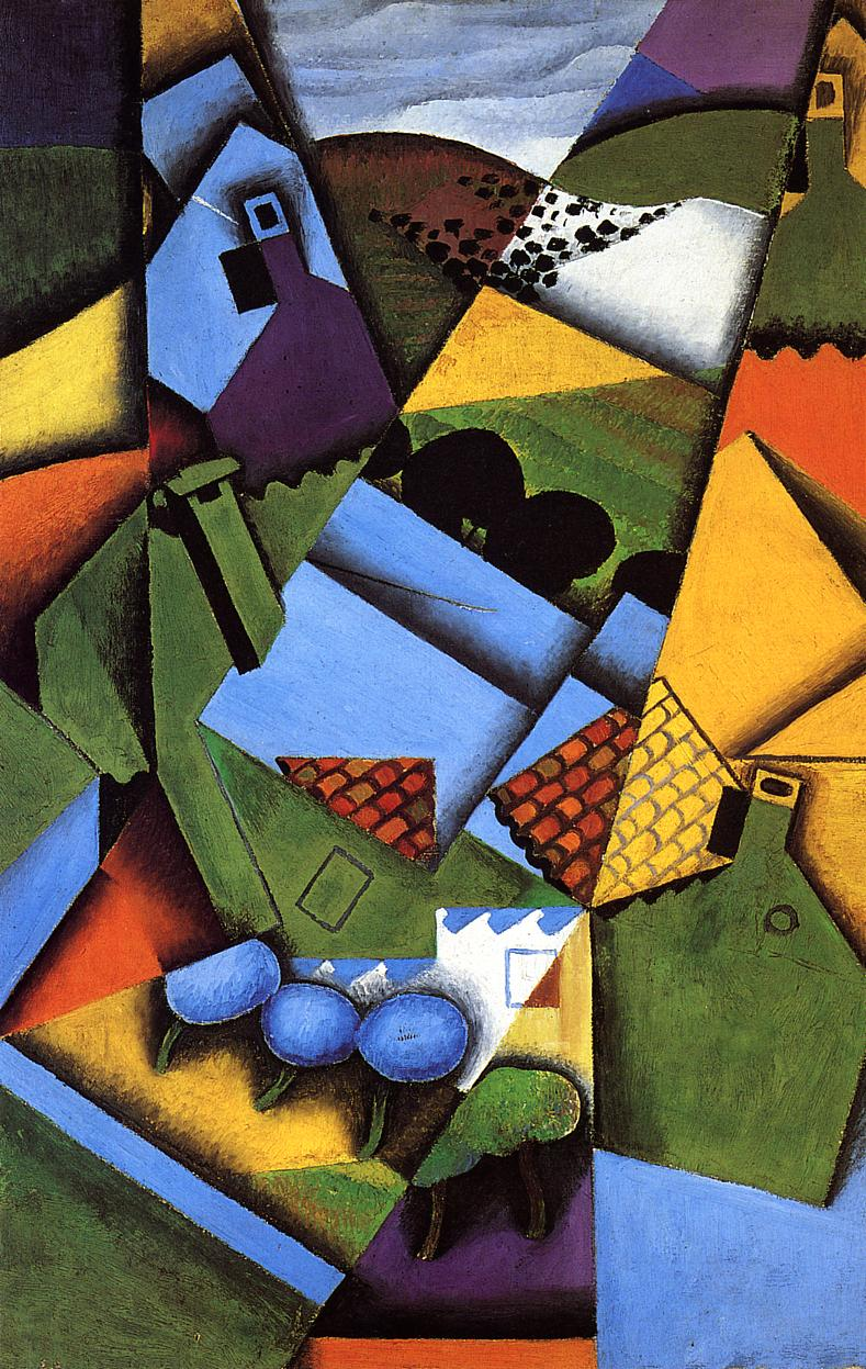 Landscape with Houses in Ceret 1913 | Juan Gris | Oil Painting