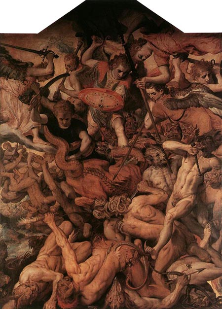The Fall of the Rebellious Angels 1554 | Frans Floris | Oil Painting