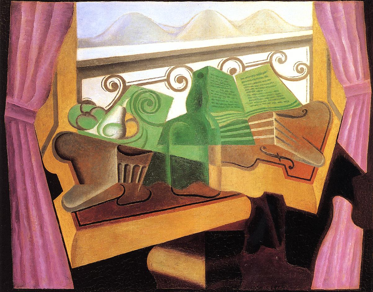 Open Window with Hills 1923 | Juan Gris | Oil Painting