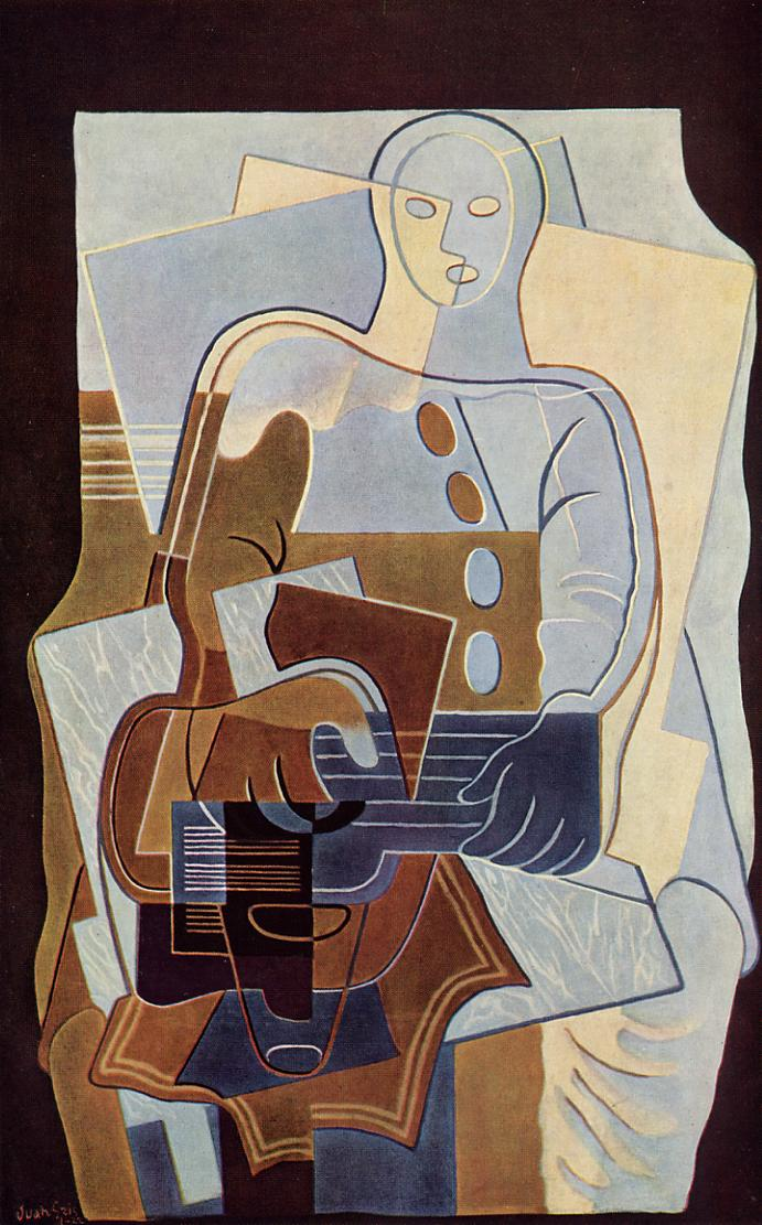 Pierrot with Guitar 1922 | Juan Gris | Oil Painting