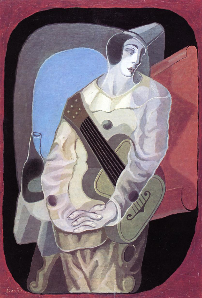 Pierrot with Guitar 1925 | Juan Gris | Oil Painting