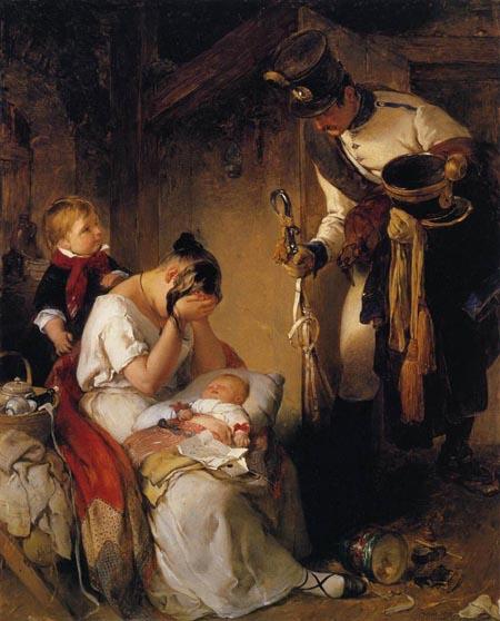 The Sad Message 1838 | Peter Fendi | Oil Painting