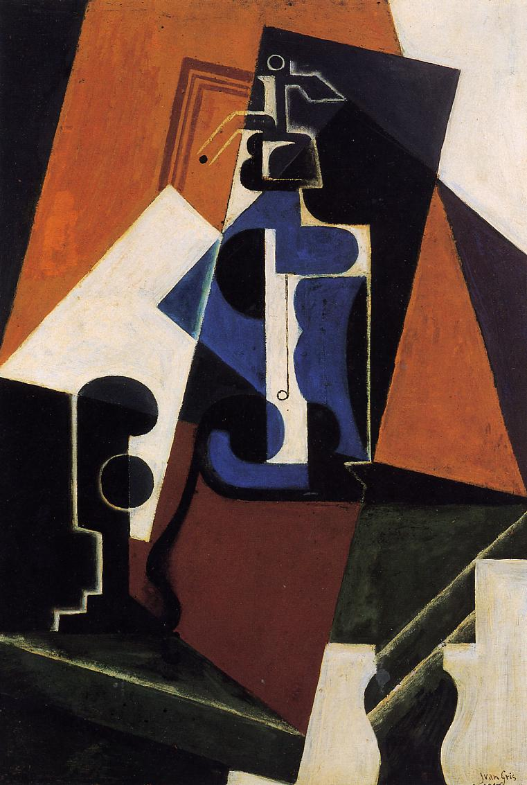 Seltzer Bottle and Glass 1917 | Juan Gris | Oil Painting
