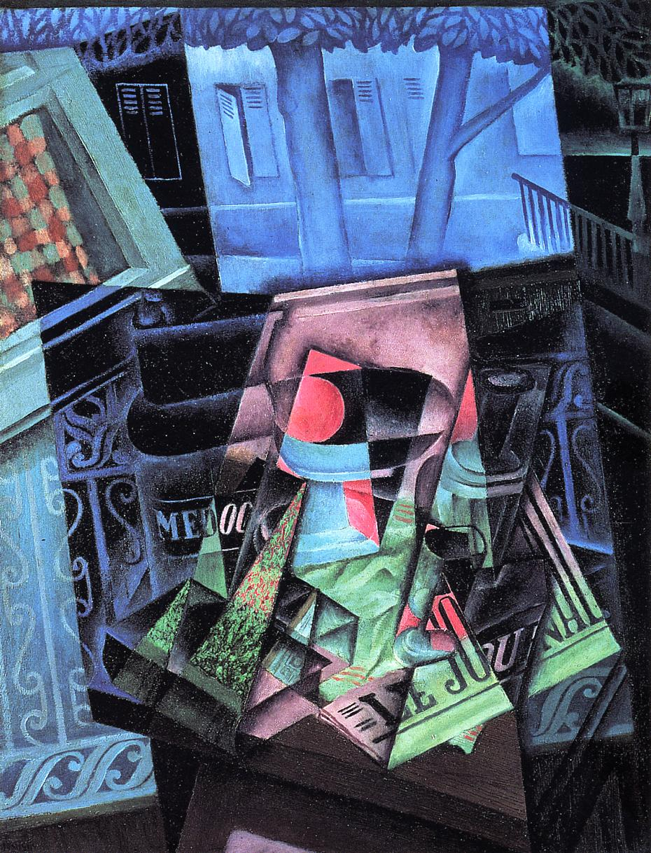 Still Life before an Open Window (aka Place Ravignan) 1915 | Juan Gris | Oil Painting